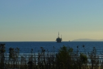 oil rigs off the Pacific coast